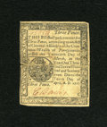 Colonial Notes:Pennsylvania, Pennsylvania April 10, 1777 3d Very Fine-Extremely Fine....