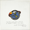 Explorers:Space Exploration, Apollo 7 Flown Original Beta-Design Emblem; Inscribed and Signed byWalter Cunningham. ...