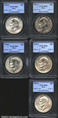 Eisenhower Dollars: , 1971-S $1 Silver MS66 PCGS; 1972-S Silver MS66 PCGS; 1973-...