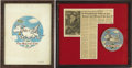 Political:Miscellaneous Political, [Franklin D. Roosevelt] The Sacred Cow: Original Artwork andEmbroidered Patch. ...