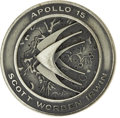 Explorers:Space Exploration, Apollo 15 Flown Robbins Silver Medallion, Serial Number 97,...
