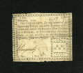 Colonial Notes:Georgia, Georgia June 8, 1777 $1/4 with low number Fine....