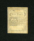 Colonial Notes:Connecticut, Connecticut October 11, 1777 5d Uncancelled Extremely Fine....