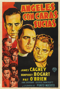 """Angels With Dirty Faces (Warner Brothers, R-1940s). Argentinean Poster (29"""" X 43"""")"""