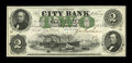 Canadian Currency: , Montreal, PQ- The City Bank $2 Jany. 1, 1857 Ch. # 110-14-02-04....