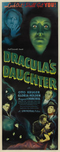"Movie Posters:Horror, Dracula's Daughter (Universal, 1936). Insert (14"" X 36"")...."