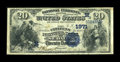 National Bank Notes:Missouri, Sedalia, MO - $20 1882 Date Back Fr. 550 The Citizens NB Ch. #(M)1971. ...