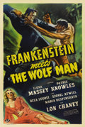 "Movie Posters:Horror, Frankenstein Meets the Wolf Man (Universal, 1943). One Sheet (27"" X41"")...."