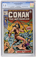 Bronze Age (1970-1979):Superhero, Conan the Barbarian #1 (Marvel, 1970) CGC VF- 7.5 Off-white to white pages....