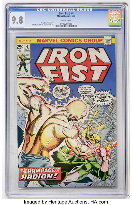 Iron Fist #4 (Marvel, 1976) CGC NM/MT 9.8 White pages....