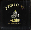 Explorers:Space Exploration, Apollo 12 Lunar Module Flown Paperweight with Lunar SurfaceExperiments Package Emblem. ...