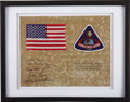Explorers:Space Exploration, Apollo 8 Flown U.S. Flag with Crew Patch....