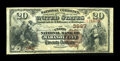 National Bank Notes:Pennsylvania, Mahanoy City, PA - $20 1882 Brown Back Fr. 497 The Union NB Ch. # 3997. ...