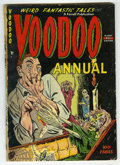 Golden Age (1938-1955):Horror, Voodoo Annual #1 (Farrell, 1952) Condition: GD-....