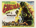 "Movie Posters:Science Fiction, Godzilla (Trans World, 1956). Half Sheet (22"" X 28"") Style B...."
