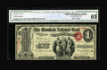 National Bank Notes:Missouri, California, MO - $1 Original Fr. 382 The Moniteau NB Ch. # 1712. Abright and well printed example of this classic hoard...