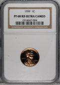 Proof Lincoln Cents: , 1959 1C PR68 Deep Cameo NGC. NGC Census: (111/31). Numismedia Wsl.Price for NGC/PCGS coin in PR68:...