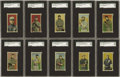 Baseball Cards:Sets, 1910 T212 Obak Partial Set (95/175). Presented here is a 95 card partial set with 85 featuring the '175 Subjects' verso and... (Total: 95 )