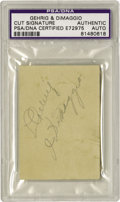 Autographs:Others, Late 1930's Lou Gehrig & Joe DiMaggio Signed Store Receipt. While the pairing of Ruth and Gehrig is often seen in the colle...