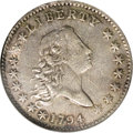 Early Half Dollars: , 1794 50C AU50 NGC. O-105a, R.5. The attachment of star 2 to thelowest curl, a leaf attached to the right base of the I in ...