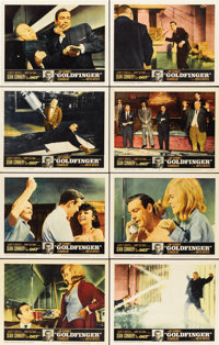 """Goldfinger (United Artists, 1964). Lobby Card Set of 8 (11"""" X 14"""").... (Total: 8 Items)"""