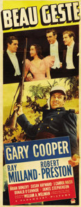 "Movie Posters:Adventure, Beau Geste (Paramount, 1939). Insert (14"" X 36"")...."