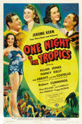 """Movie Posters:Comedy, One Night in the Tropics (Universal, 1940 & 1950). One Sheet(27"""" X 41"""") and Reissue Lobby Card (11"""" X 14"""").... (Total: 2 Items)"""