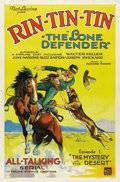 "Movie Posters:Western, The Lone Defender (Mascot, 1930). One Sheet (27"" X 41"") Episode One-- ""The Mystery of the Desert.""..."
