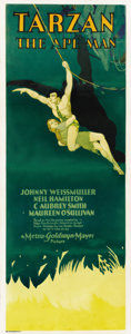 "Movie Posters:Adventure, Tarzan the Ape Man (MGM, 1932). Insert (14"" X 36"")...."