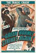 "Movie Posters:Serial, The Green Hornet Strikes Again (Universal, 1941). One Sheet (27"" X41"") Chapter 9 -- ""The Tragic Crash.""..."