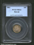 Coins of Hawaii: , 1883 10C Hawaii Ten Cents MS64 PCGS. A lustrous and well ...
