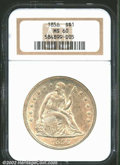 Seated Dollars: , 1856 $1 MS60 NGC. Breen-5454. Although produced in ...