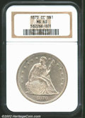 Seated Dollars: , 1870-CC $1 MS63 NGC. The Carson City Mint, perhaps the ...