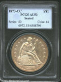1873-CC $1 AU53 PCGS. The 1873-CC has an original mintage of 2,300 coins, which is not the lowest among Seated Dollars f...