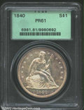 Proof Seated Dollars: , 1840 $1 PR61 PCGS. Struck from a previously unrecorded ...