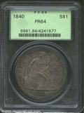 Proof Seated Dollars: , 1840 $1 PR64 PCGS. Struck from the same dies as the ...