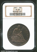 Proof Seated Dollars: , 1847 $1 PR65 NGC. The rarity of this proof 1840s ...