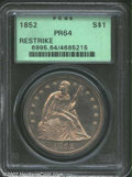 Proof Seated Dollars: , 1852 $1 Restrike PR64 PCGS. Much like the restrike 1851 ...