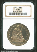 Proof Seated Dollars: , 1854 $1 PR64 NGC. This coin was struck from the same ...