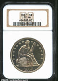 Proof Seated Dollars: , 1857 $1 PR64 NGC. Two die marriages are known for this ...