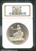1873-CC T$1 MS62 NGC. The first Trade Dollar from the Carson City Mint, the '73-CC was produced to the extent of just 12...