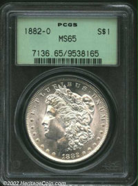 1882-O $1 MS65 PCGS. Fully struck, the cheek of Liberty is refreshingly free from abrasions and each side is brilliant w...