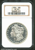 Proof Morgan Dollars: , 1894 $1 PR65 NGC. Brilliant and deeply mirrored in the ...