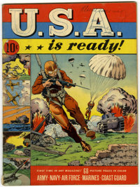 U.S.A. Is Ready #1 (Dell, 1941) Condition: VG-