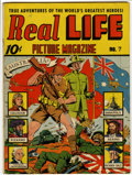 Golden Age (1938-1955):Non-Fiction, Real Life Comics #7 (Nedor Publications, 1941) Condition: VG/FN....