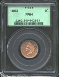 Proof Indian Cents: , 1863 1C PR64 PCGS. Well struck with tan-brown patina ...
