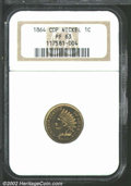 Proof Indian Cents: , 1864 1C Copper-Nickel PR63 NGC. The devices have tan-gold ...
