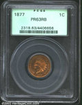 Proof Indian Cents: , 1877 1C PR63 Red and Brown PCGS. The golden-orange ...