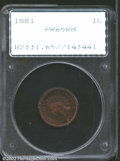 Proof Indian Cents: , 1881 1C PR65 Red and Brown PCGS. Housed in a first ...