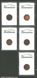 Proof Indian Cents: , 1882 1C PR62 Red and Brown ANACS, bright orange with some ...